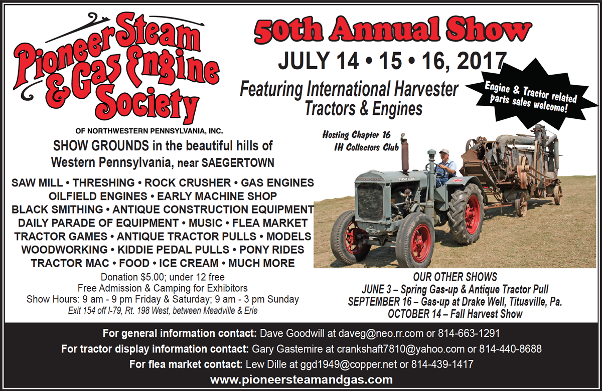 Show home build gas powered mini tractors - 50th Annual Show July 14 15 16